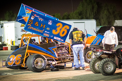 King of the Wing, Sprint Car Race Irwindale California