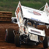 Cory Haas throws it into turn 3 at Lincoln Speedway in June 2009.