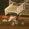 Cody in the dust of a feature race at Lincoln Speedway.