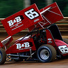 Johnny Mackison Jr storms toward turn 3 at Lincoln Speedway in June 2009.