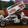 Cory Haas playing in the dirt.