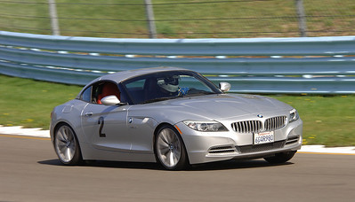 BMW Z4 sDrive35is at Watkins Glen, 2009. Car was a little soft for the track, but ended up being more competent than we thought it would be. (Photo by Newlin Keene - Track Time Photos)