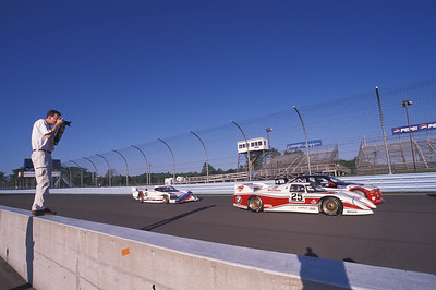 Shooting some of BMW's Mobile Tradition cars at Watkins Glen in 2002, during the Glen Historics. (Klaus Schnitzer photo)