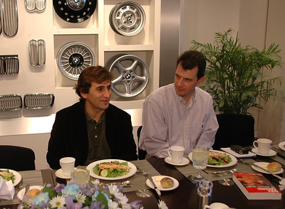 Having lunch with Alex Zanardi at BMW NA headquarters in December 2004. Great guy.