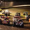 NCRA Sport mods 4 wide at Salina HighBanks Speedway