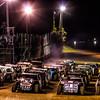 USMTS 4 wide at Monett Speedway