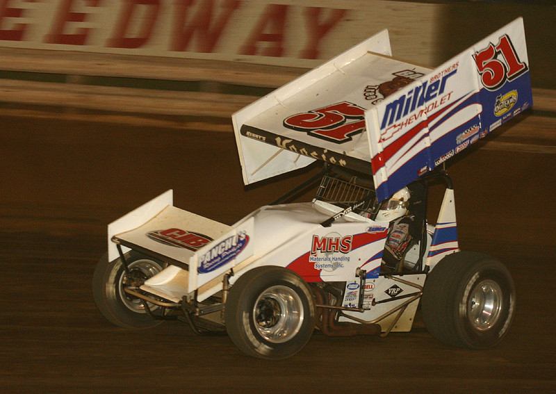 Fred Rahmer is back-a terror in his new Maxim. He took the win Sunday night.