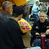 Brad Doty talks with Todd Shaffer and Daryn Pittman on Fri. Unfortunately the program washed out.