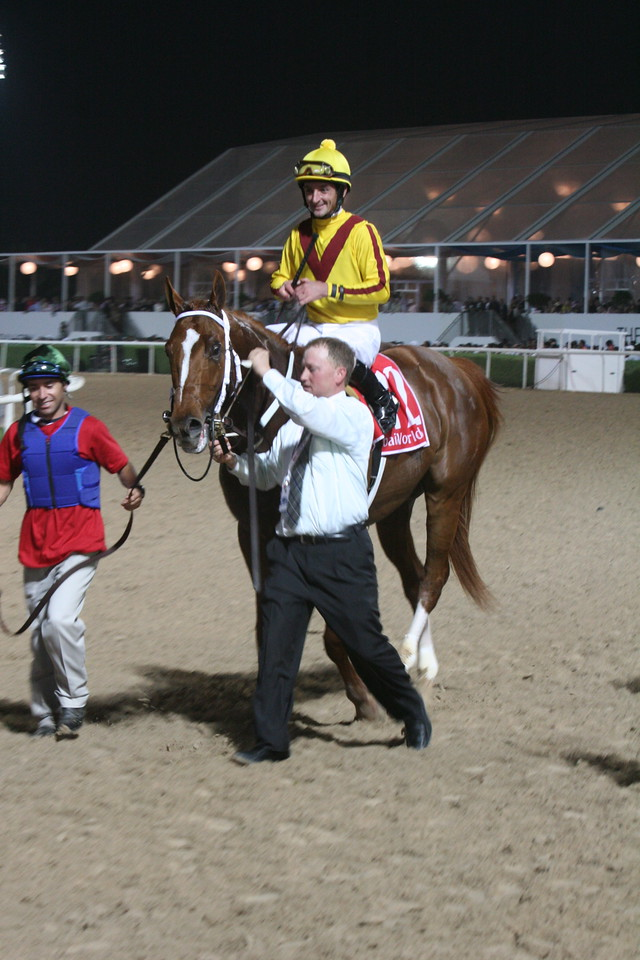 Curlin and R Albarado come in after the winIMG_0238.JPG