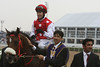 9.  Winning jockey, Daragh O'Donohoe and Fryvolous