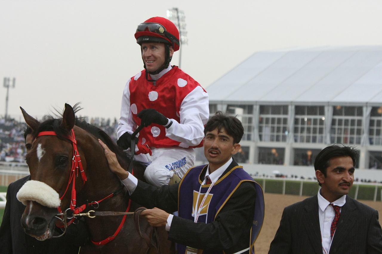9.  Winning jockey, Daragh O'Donohoe and Fryvolous