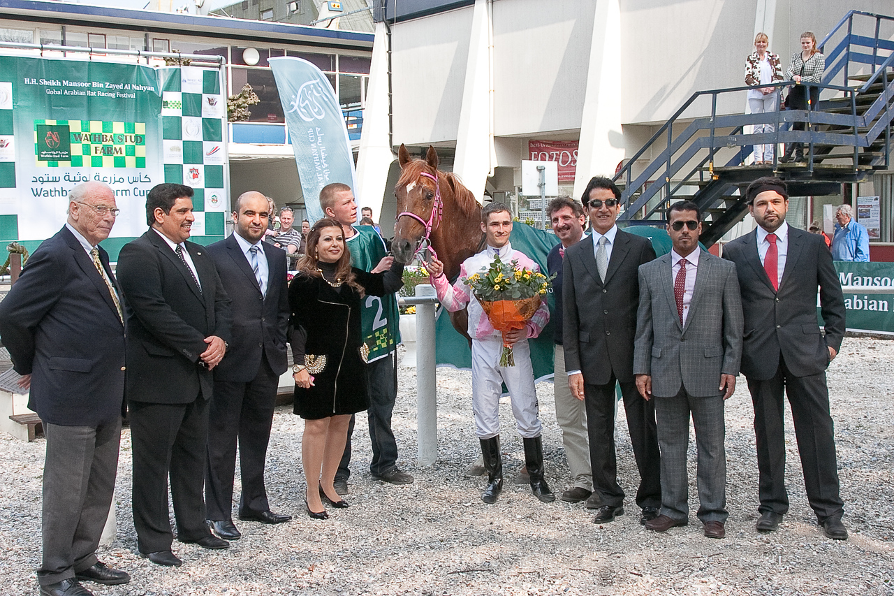 13. Festival officals with winning horse