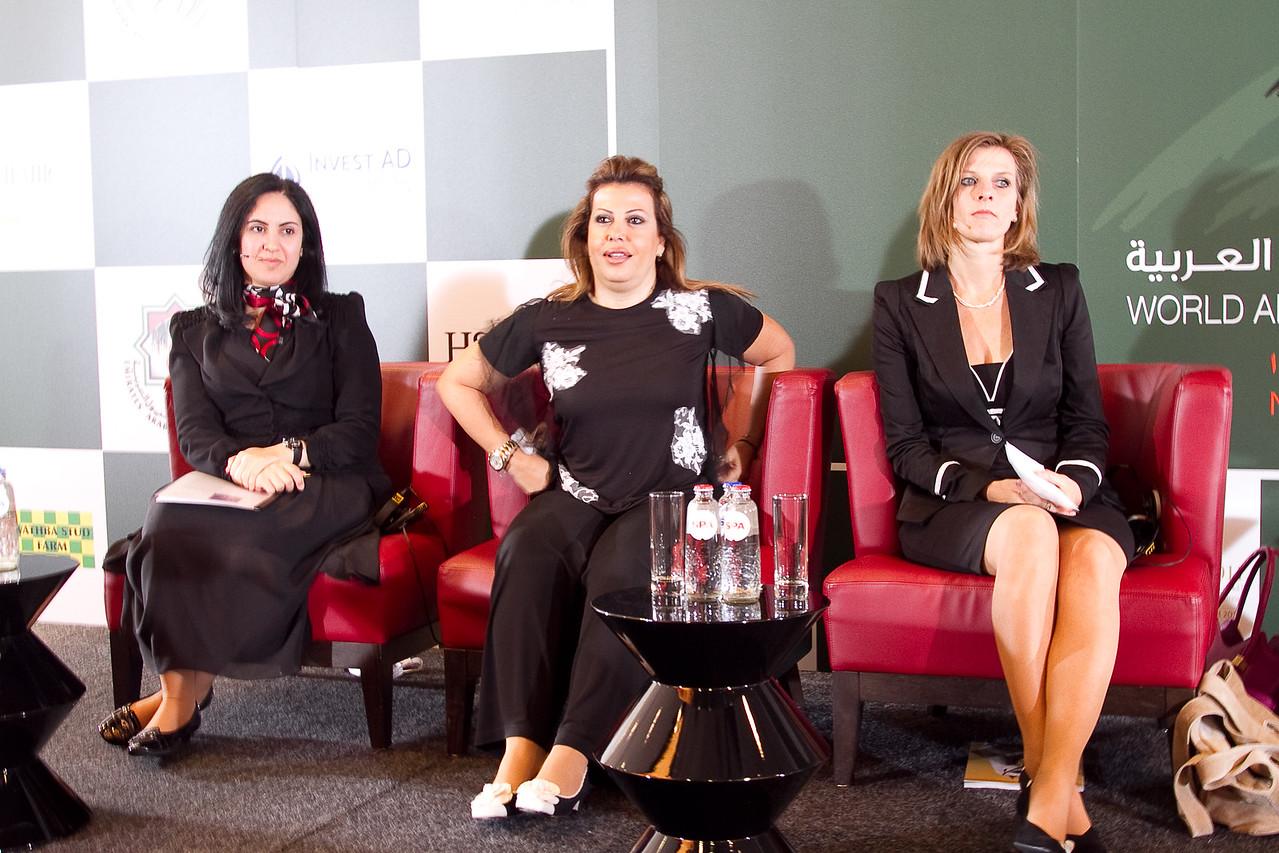Panel - HE Sheikha Najla Al Qassimi (UAE), Lara Sawaya (UAE), Dr. Inge Wijnberg (NETH)