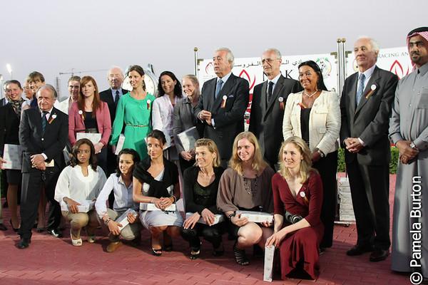 Ladies Fegentri Riders for TB race, winner, Judgment, Berit Weber