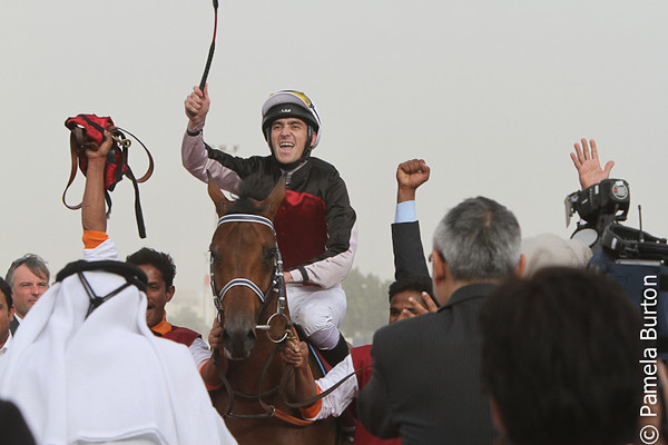 Al Mujahz with Darren Williams wins Emir's Trophy March 1