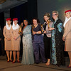 1 (l-r)HH Sheikha Fatima Bint Mubarak Darley Awards - Susanna Santesson, Life time Achievement, Marie-Ange Boudette, Best Breeder, Karrin Van Der Bos (Netherlands), Best Owner, Hannie Maasdijk, presentation