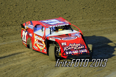 Kevin Sustaire @ RPM Speedway, USMTS racing action. 6-28-13