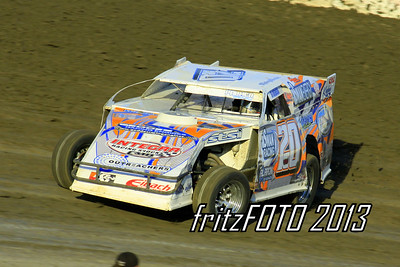Rodney Sanders @ RPM Speedway, USMTS racing action. 6-28-13