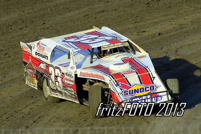 Zack Vanderbeek @ RPM Speedway, USMTS racing action. 6-28-13