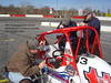 Bob East gave the drivers instructions on how to handle the midget racer.