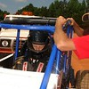 Late Model driver Tim Allen runs a test on the two seater sprint car.