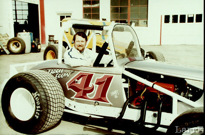 Larrie Ervin and his race car 1983