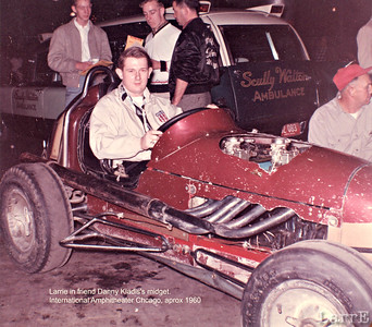 Larrie in Danny Kladis's midget Chicago indoor USAC race 1962 ?