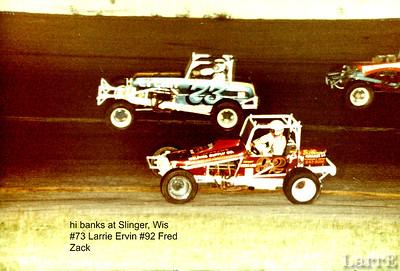 Slinger, Wisconsin steep banked asphalt.