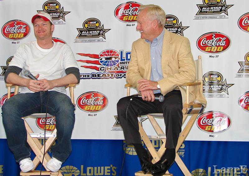 Dale Earnhardt jr and Humpy Wheeler