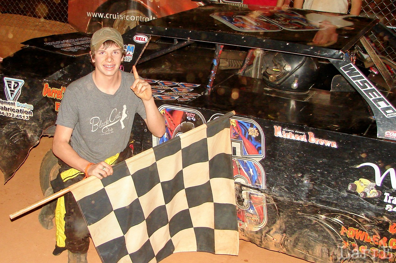 """""""Downtown"""" Michael Brown wins the 4 cylinder race"""