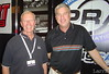 Indy Car, sprint car and midget racer Larry Rice and broadcaster Bob Jenkins