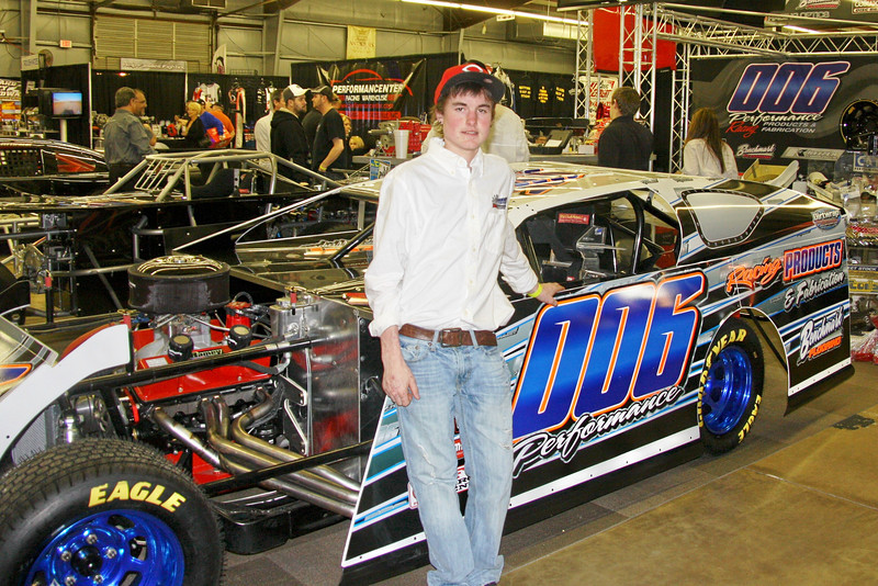 Colton Robinson with his ride for 2012