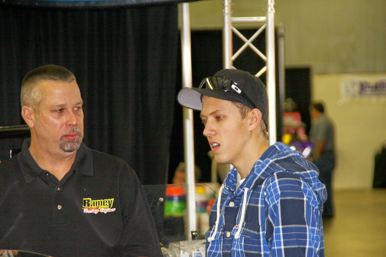 Ramey  listens to Nick Hoffman explain what he'll be doing this year... runnin' his dirt mod, starting next week in Florida.