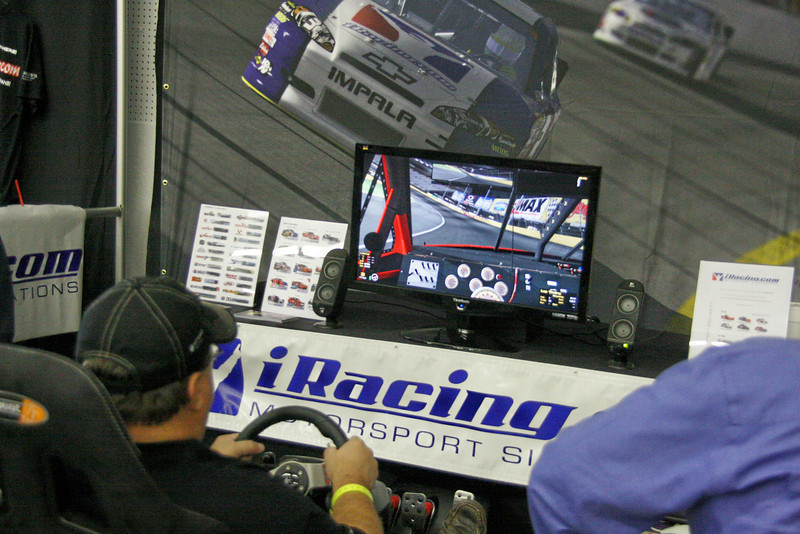 the iracing simulator was a big hit at the show