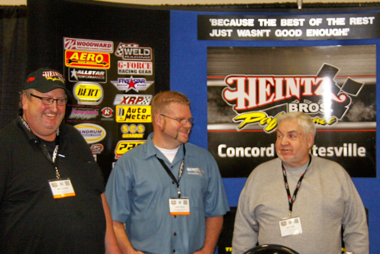 Jim Cook stopped by the Heintz Bros booth