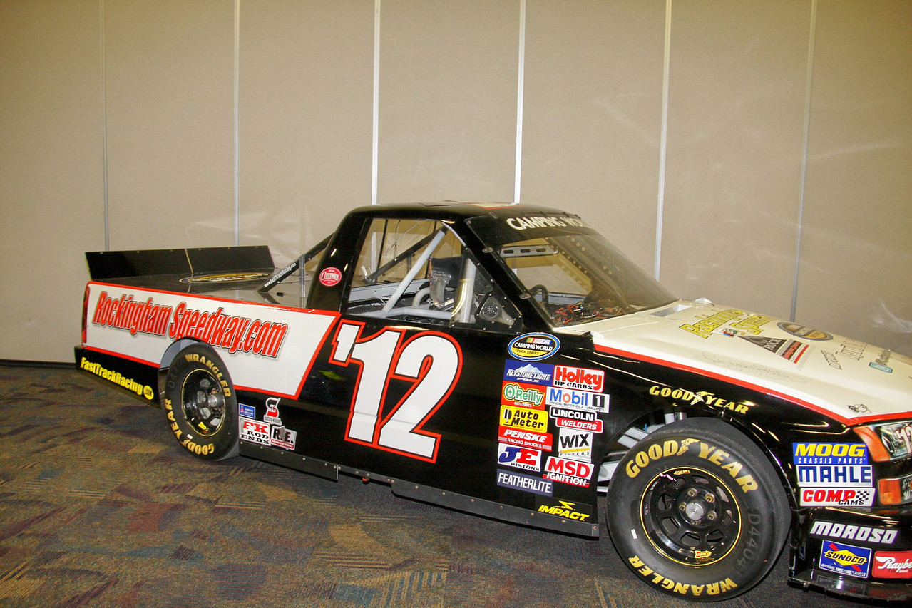 the Rockingham Speedway NASCAR truck will be in the race at Rockingham on April 14th 2013