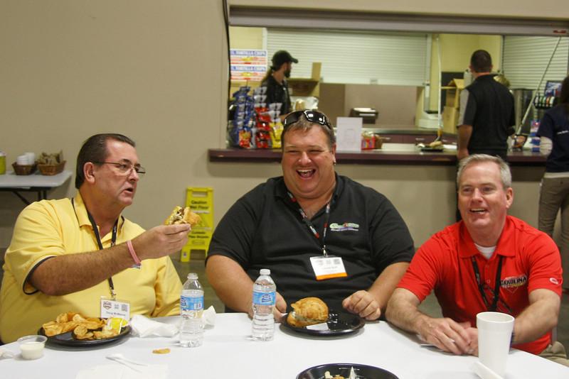 "Doug McManus, "" Here Lenny (Cherokee Speedway), have half of my sandwich."""