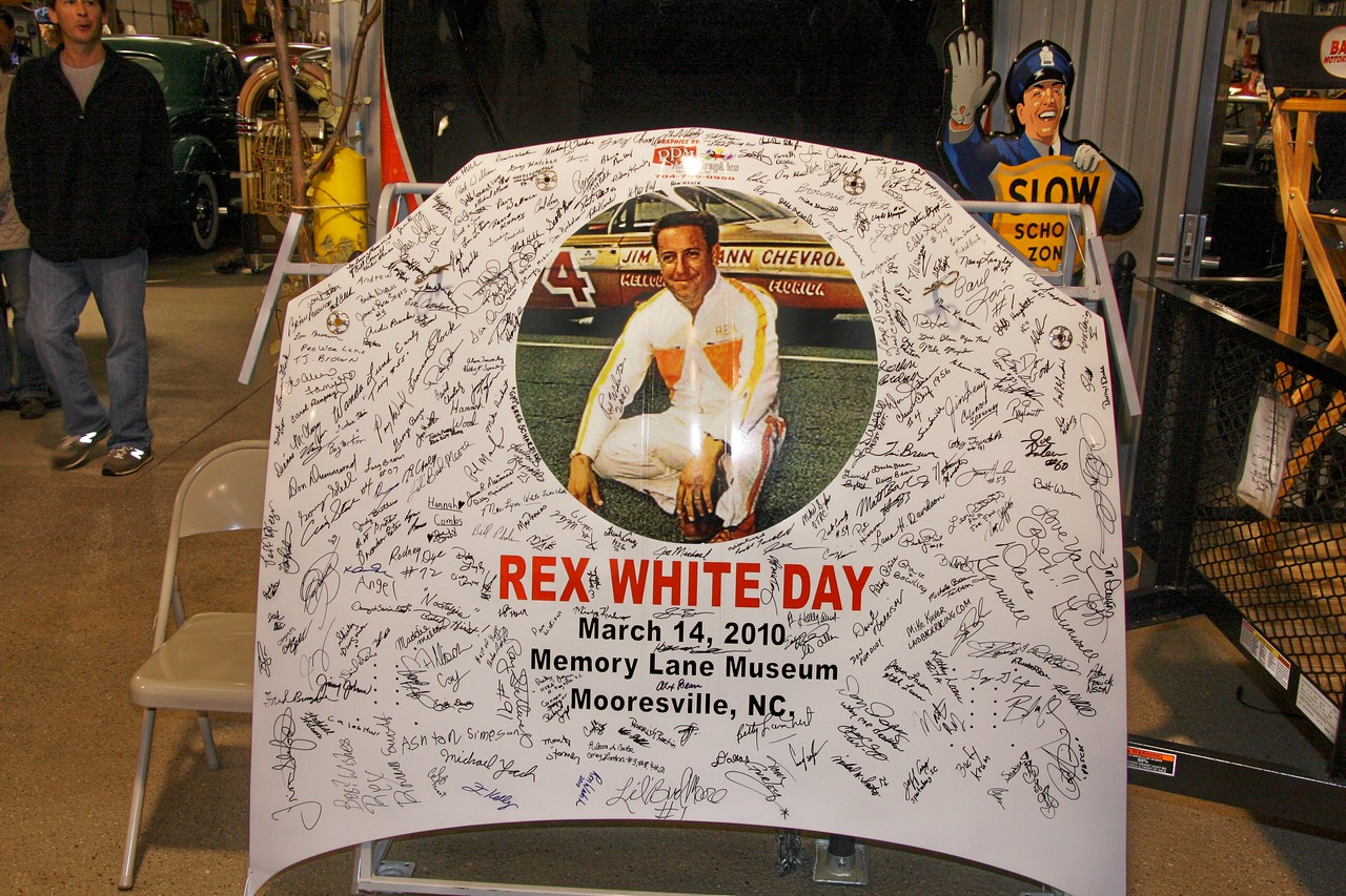 The REX WHITE hood from 2010 Hall of Fame show.