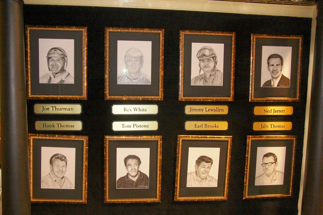 Joe Thuman, Rex White, Jimmy Lewallen, Ned Jarrett, Hank Thomas, Tom Pistone, Earl Brooks and Jabe Thomas