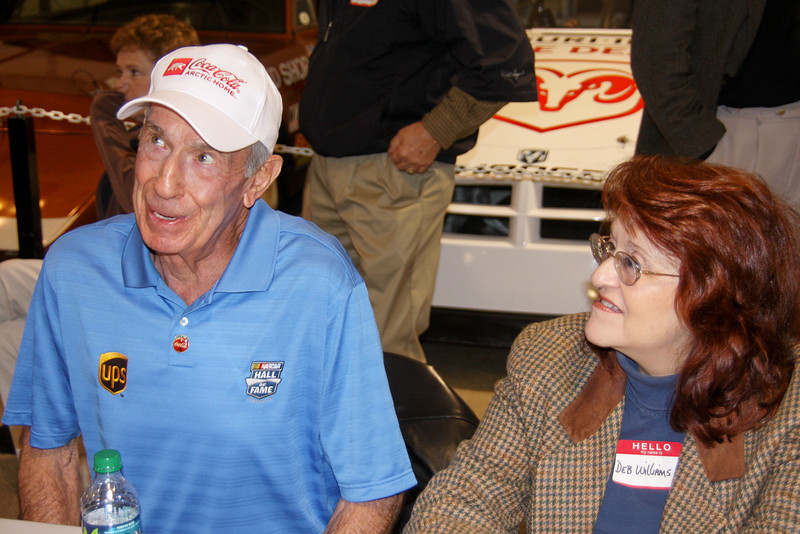 Ned Jarret 1961 and 1965 NASCAR Champion with writer Deb Williams