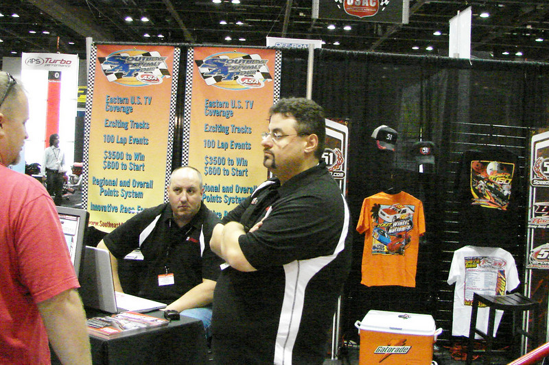 "Jason Buckley ""Styx"" at the Speed 51 booth."