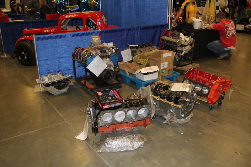 Just some of the MANY engines and blocks up for auction the weekend.