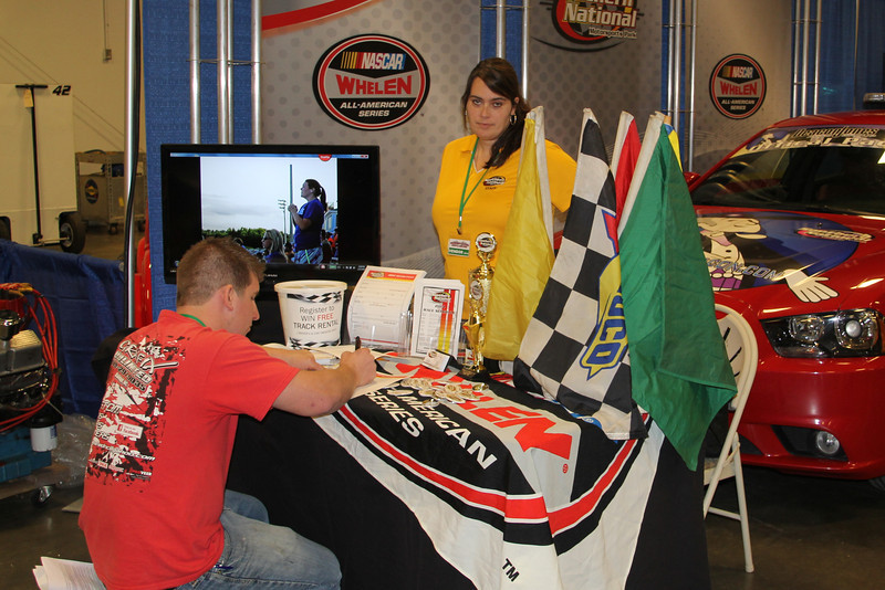 Southern National Motorsports Park had a booth here. There season starts on March 1st (a day race) and goes thru  Sep 20th. With special shows for the PASS and Pro-Cup and a couple NWSMT races.