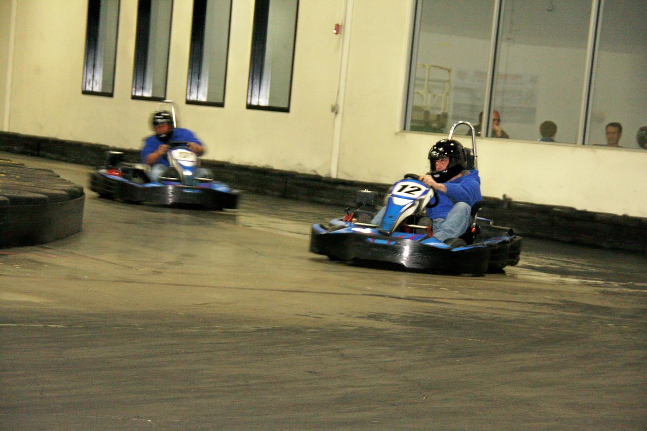 #12 Jeff Langley drifts it in