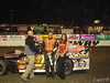 for the FOURTH time in FOUR nights!  Steve Arpin stopped by to pick up his winners trophy in the UMP modified race.