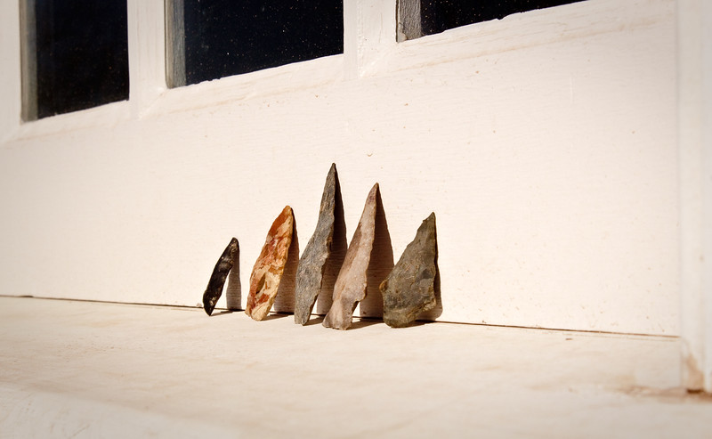 #44 rackliffe house arrow heads, march 2009