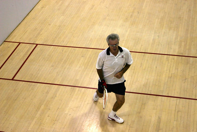 Jay Wisthoff in his Men's 50+ match.