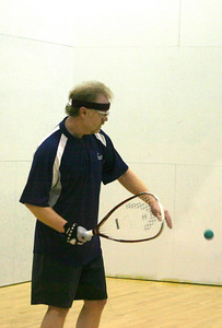 Alaska Hall of Fame member Jim Hage came down from Fairbanks to compete in the Alaska State Singles tournament.