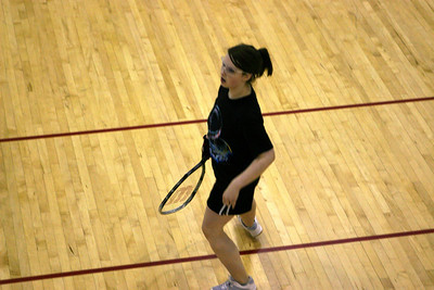 Barbara Bernier in her Women's B/C 1st round match..