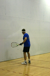 Tom Hood in his Men's Open 1st round match serving up his lob.
